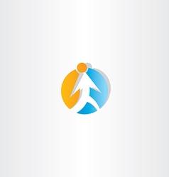 man walking circle arrow icon vector image vector image