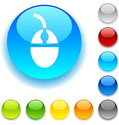 Mouse button vector image