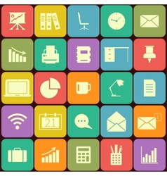 Office and business Flat icons for Web and Mobile vector image vector image