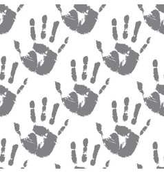 Prints of hands seamless pattern vector