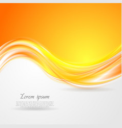 Shiny orange abstract waves vector