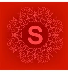 Simple Monogram S Design vector image