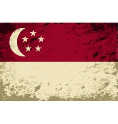 Singapore flag grunge background vector