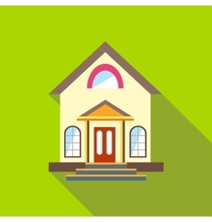 Small cute house icon flat style vector