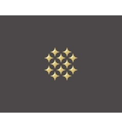 Stars letter O logotype Luxury abc icon vector image vector image