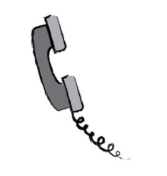 telephone call service communication icon vector image