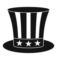 Uncle sam hat icon simple style vector