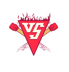 vs logo symbol versus fight vector image