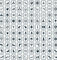 100 diagram icons vector image
