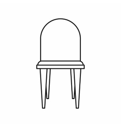 Chair icon in outline style vector