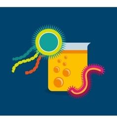 scientific laboratory bacteria vector image
