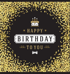 Happy birthday greeting card design vector