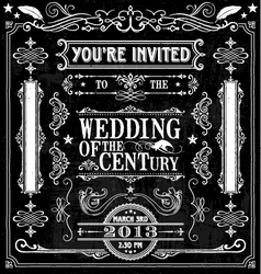 Wedding invitation design elements vector