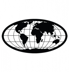 oval globe vector image