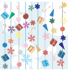 Christmas gifts background vector image