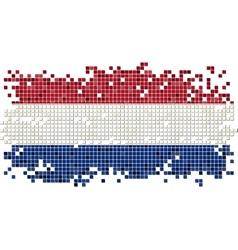 Dutch grunge tile flag vector image