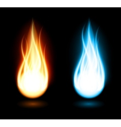 Dark background with flame vector