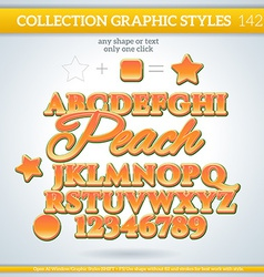 Peach Graphic Style for Design vector image