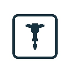 Jackhammer icon rounded squares button vector