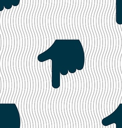 Pointing hand icon sign seamless pattern with vector