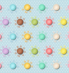 Seamless pattern with colorful macaroons macarons vector