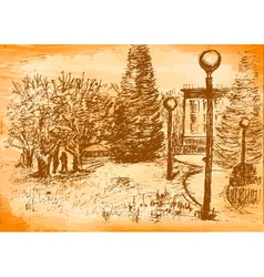 spring park vector image