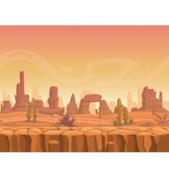 Seamless prairie landscape vector