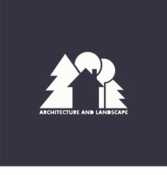 logo house with trees vector image
