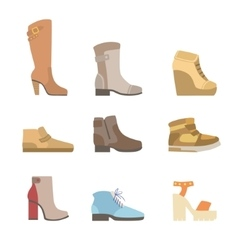 Different shoes assortment vector