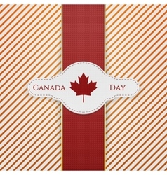 Canada day national tag with red ribbon vector
