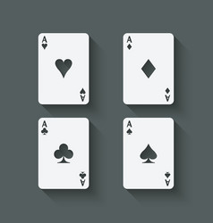 aces card set vector image vector image