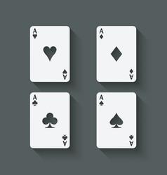 Aces card set vector