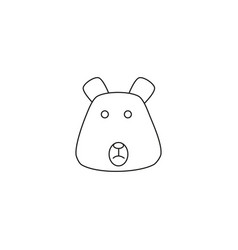 animal bear icon vector image