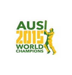 Australia aus cricket 2015 world champions vector