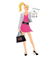 Business girl blond vector