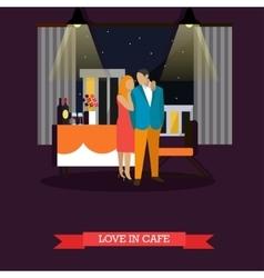 Celebrating romantic couple in restaurant vector