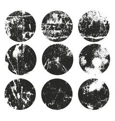 Circle grunge label retro frames for emblems vector