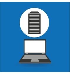 Computer analysis data center icon vector