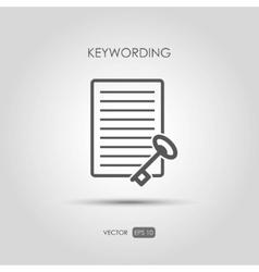 Copywriting icon keywording in linear style vector