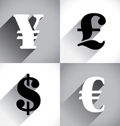 Euro Dollar Pound and Yen vector image