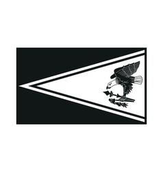 Flag of american samoa monochrome on white vector
