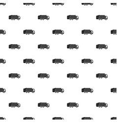 Garbage truck pattern vector