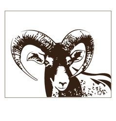 goat graphics vector image