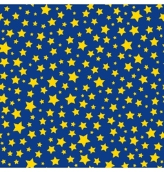 Golden stars blue sky seamless pattern vector image vector image