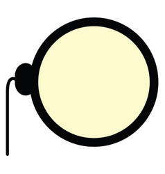 Isolated monocle icon vector