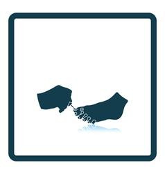 Pedicure icon vector image vector image