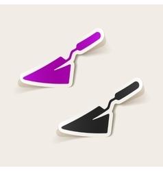 Realistic design element trowel vector