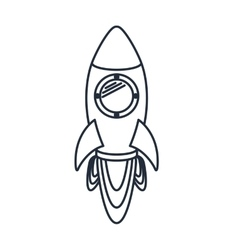 rocket launcher isolated icon design vector image