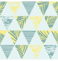 Seamless exotic pattern with palm leaves on vector image vector image