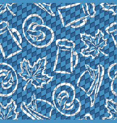 Seamless pattern for oktoberfest vector